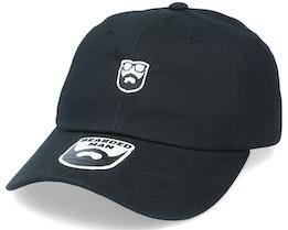 Badge Logo Black Dad Cap - Bearded Man