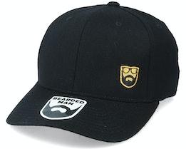 Gold Badge Logo Side Panel Black 110 Adjustable - Bearded Man