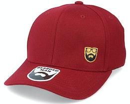 Gold Badge Logo Side Panel Maroon 110 Adjustable - Bearded Man