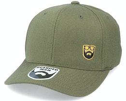 Gold Badge Logo Side Panel Olive 110 Adjustable - Bearded Man