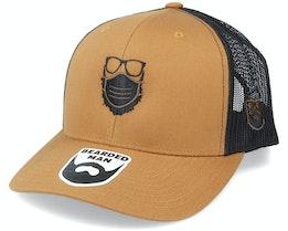 Face Mask Quarantine Beard Caramel/Black Trucker - Bearded Man