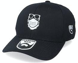 Face Mask Quarantine Beard Black Flexfit - Bearded Man