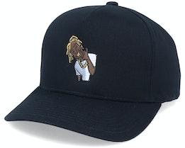 Stay Gold Curved A-Frame Black Adjustable - Hatstore