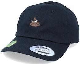 Organic Tiny Poop Emoji Black Dad Cap - Iconic