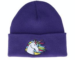 Kids Rainbow Unicorn Sky Purple Cuff - Unicorns