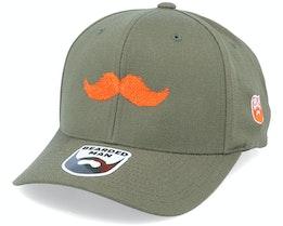 Orange Moustache Movember Olive 110 Adjustable - Bearded Man