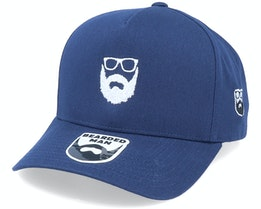 Wild Beard Movember A-Frame Navy Adjustable - Bearded Man