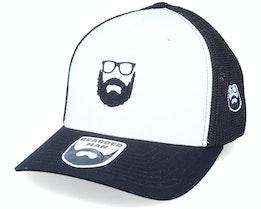 Wild Beard Movember White/Black Trucker - Bearded Man