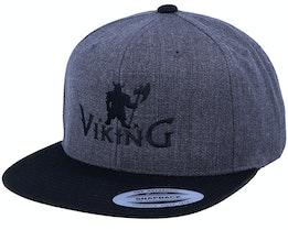 Viking Warrior Logo Charcoal Grey/Black Snapback - Vikings