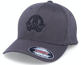Odin Wolves Logo Dark Grey Flexfit - Vikings