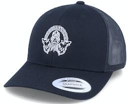 Odin Wolves Logo Black Trucker - Vikings