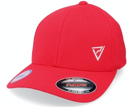 White Insignia Cool & Dry Mesh Red Flexfit - Padelville