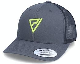 Logo 3D Classic 2-Tone Charcoal/Black Trucker - Padelville