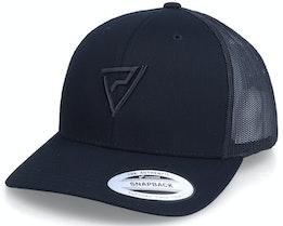 Black Logo 3D Black Trucker - Padelville