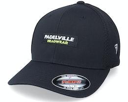 Logo Box Tactel Mesh Black Flexfit - Padelville
