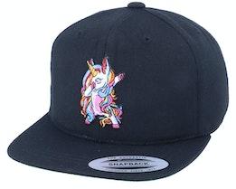 Kids Unicorn Dab Black Snapback - Unicorns