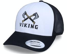 Axe Cross Logo Retro White/Black Trucker - Vikings