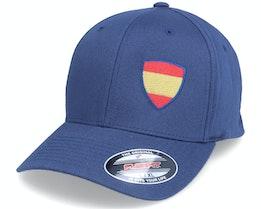 Spain Flag Shield Navy Flexfit - Forza