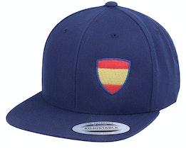 Kids Spain Flag Shield Navy Snapback - Forza