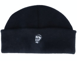 Tiny Hipster Skull Black Short Beanie - Abducted