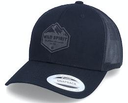 Charcoal Mountain Shape Patch Black Trucker - Wild Spirit