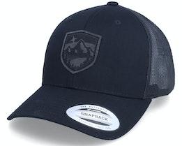 Charcoal Starry Mountain Patch Black Trucker - Wild Spirit
