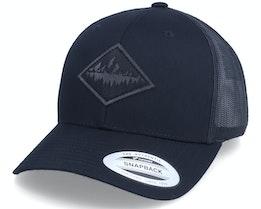 Charcoal Pine Mountain Patch Black Trucker - Wild Spirit