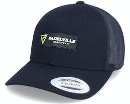 Neon Logo Patch Black Trucker - Padelville